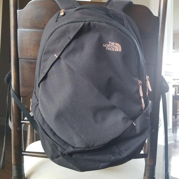 96847018e The North Face Isabella Black Rose Gold Backpack